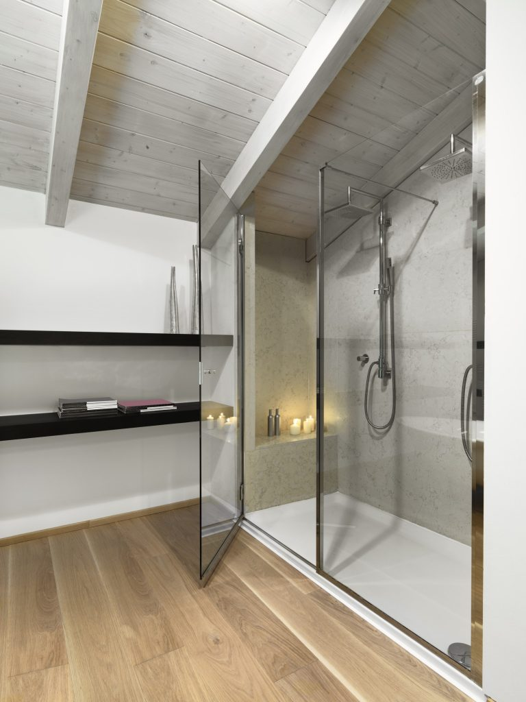 Interiors Shots of a Modern Bathroom in the Attic